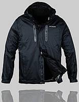 Мужская зимняя куртка Columbia 4233 Чёрная