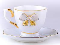"""Кофейная чашка с блюдцем """"Принцесса"""" Lefard 55-2304"""
