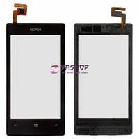 Сенсор (тачскрин) Nokia Lumia 520, Lumia 525 и рамкой черный Оригинал Китай