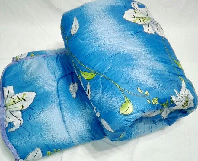 Одеяло стеганое Евро на овчине(ткань поликатон)