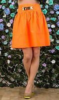 Оранжевая мини юбка