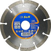 Алмазный сегментный круг S&R Segment 125x22,2 (неарм. бетон)