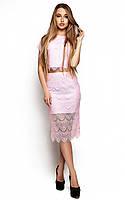 Жіноча гіпюрова рожева спідниця Viola