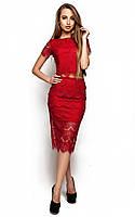 Жіноча гіпюрова червона спідниця Viola