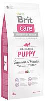 Беззерновой корм для щенков и молодых собак Brit Care Puppy Salmon & Potato