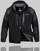 Мужская зимняя куртка Columbia 4237 Чёрный