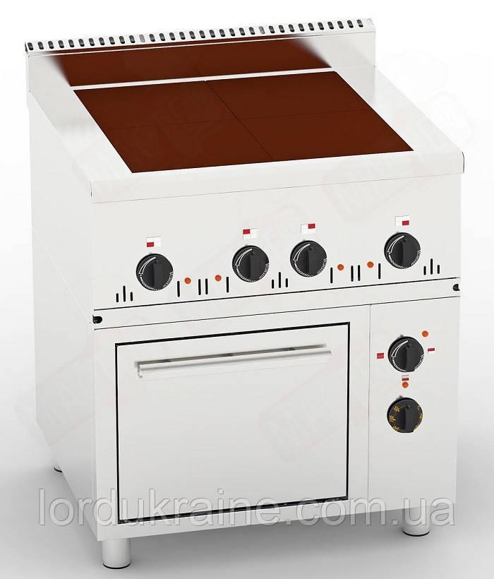Плита электрическая промышленная с духовкой ПЭ-4-Ш(0,36) 700 (под GN 1/1)
