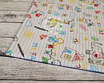 """Хлопковая ткань """"Тетрадь с детскими рисунками"""", на белом фоне (№ 857), фото 4"""