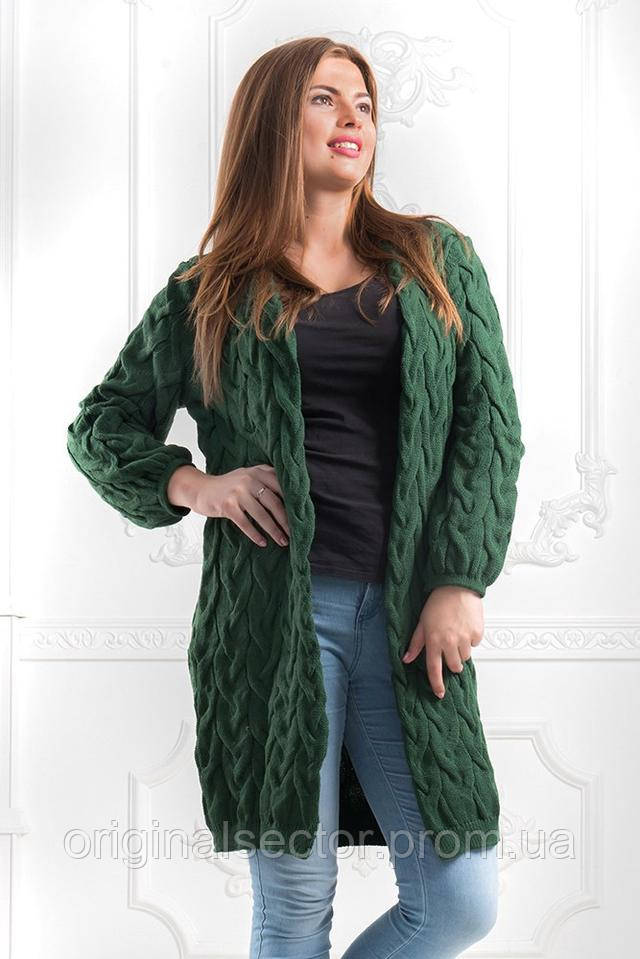 acb8d46e3bb0 Кардиган женский вязаный удлиненный размер 48-54, цена 560 грн ...
