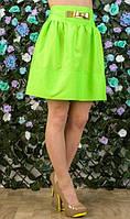 Салатовая мини юбка