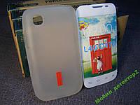 Чехол бампер силиконовый LG L40 D170 белый