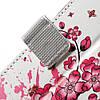 Чехол книжка для Sony Xperia L1 G3313 боковой с отсеком для визиток, Цветущая сакура, фото 8