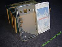Чехол бампер силиконовый Samsung S5690 белый