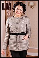 """Женская красивая куртка """"Леди1"""" 44-54 батал осенняя весенняя короткая демисезонная на молнии с капюшоном"""