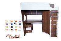 Кровать-чердак с рабочей зоной Veseliil 190см
