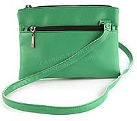 Маленькая удобная легкая сумочка на три отделения Украина art. ярко зеленая (100174)