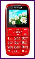 Телефон Sigma Comfort 50 Slim (Red). Гарантия в Украине 1 год!