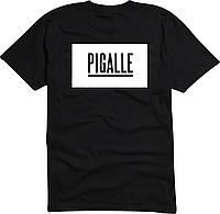 Футболка Pigalle черная с логотипом мужская,женская,детская