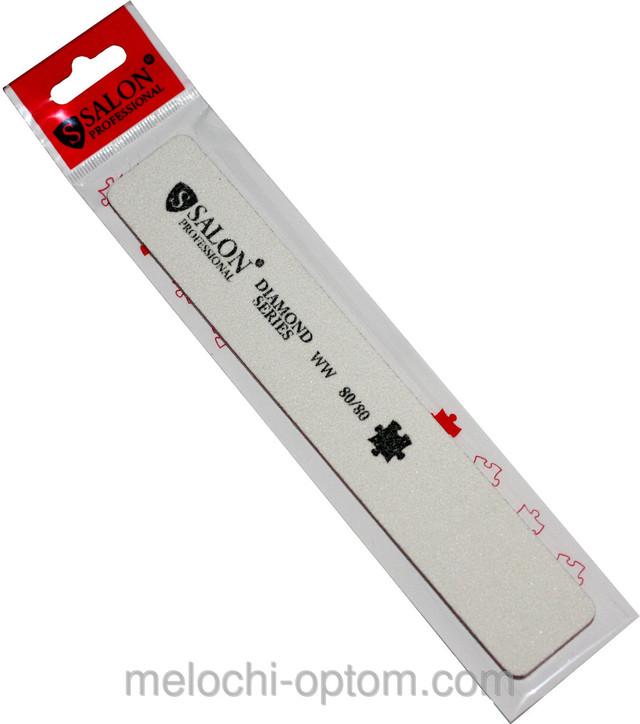 Пилки для нігтів SALON PROFESSIONAL (80/80) квадрат, широкі, білі