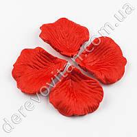 Лепестки роз декоративные, красные, 140 шт.