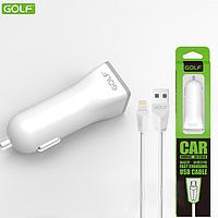 AЗУ Golf GF-C1 Car charger 1USB + USB кабель для iPhone 5/6