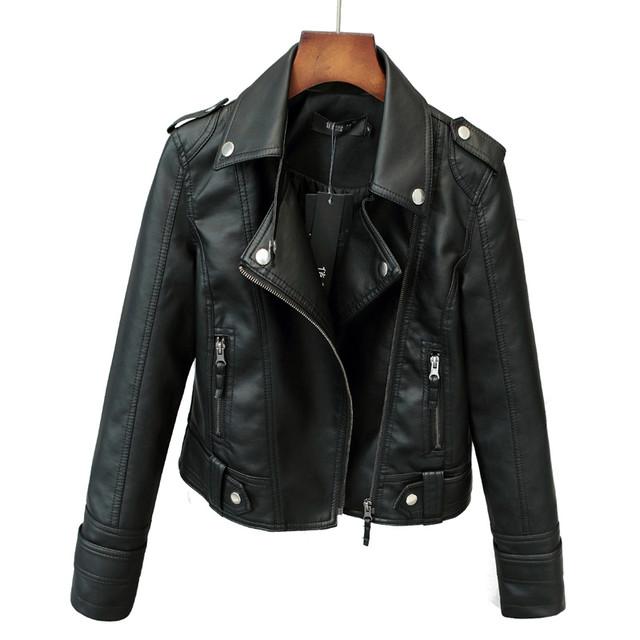 Куртки женские из искусственной кожи