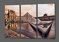 Модульная картина Пирамида.Лувр.Франция 70*90 см