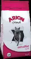 Arion Friends Adult Sensitive корм для кошек с чувствительным пищеварением, 15 кг