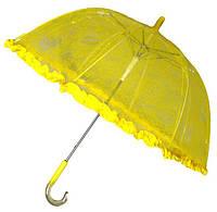 Зонт детский прозрачный Цветы с Рюшкой 001-2
