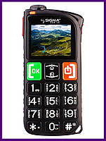 Телефон Sigma Comfort 50 Light Dual Sim (Black). Гарантия в Украине 1 год!