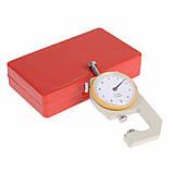Карманный механически толщиномер TOL-2 0,1 мм/0-10 мм для бумаги, картона, железа, ткани, фото 4