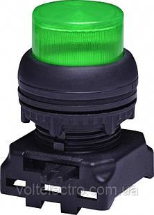 Кнопка-модуль выступающая с подсветкой EGPI-R без фиксации, зеленая
