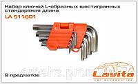 Набор ключей L-образных шестигранных стандартная длина 9 предметов Lavita LA 511601