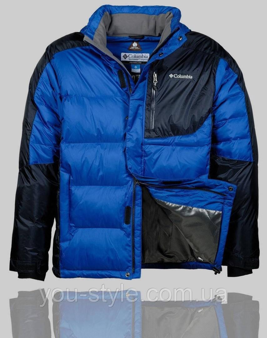 6adba89cebb8 Мужская зимняя куртка Columbia 4242 Синяя - Интернет магазин