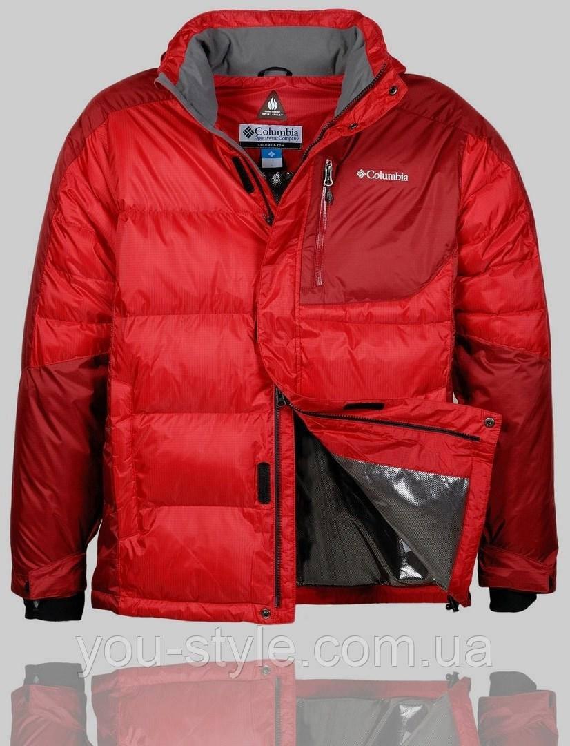 6dddb60b Мужская зимняя куртка Columbia 4243 Красная - Интернет магазин