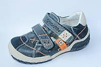 Детские кожаные мокасины на мальчика итальянской тм Canguro р.25,26,29