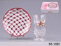 """Кофейная чашка с блюдцем """"Принцесса"""" Lefard 86-1691"""