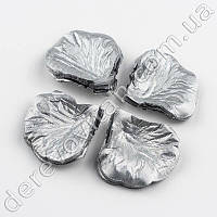 Лепестки роз декоративные, серебро, 140 шт.
