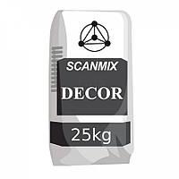 """Цементно-известковая штукатурка типа """"короед"""" Scanmix DEKOR (уп.25 кг)"""