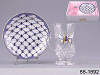 """Кофейная чашка с блюдцем """"Принцесса"""" Lefard 86-1692"""