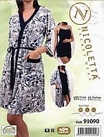 Комплект   халат, майка и  шорты  Nicoletta