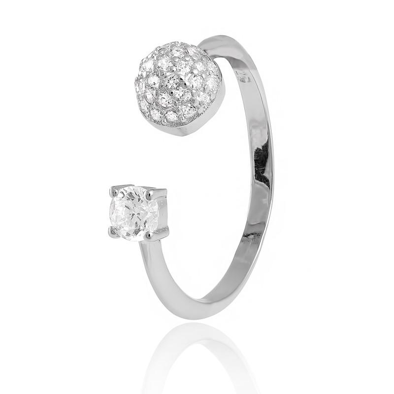 """Серебряное кольцо с камнями """"824"""""""
