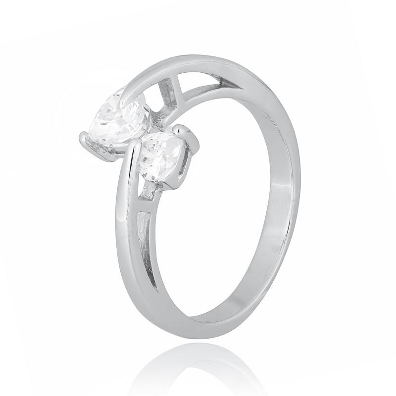 "Серебряное родированное кольцо ""827"""