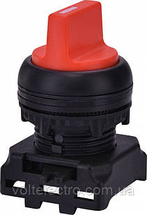 Вимикач двопозиційний з підсвічуванням EGS2-N-R, червоний