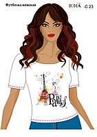 """Женская футболка c рисунком """"Яркий Париж"""""""