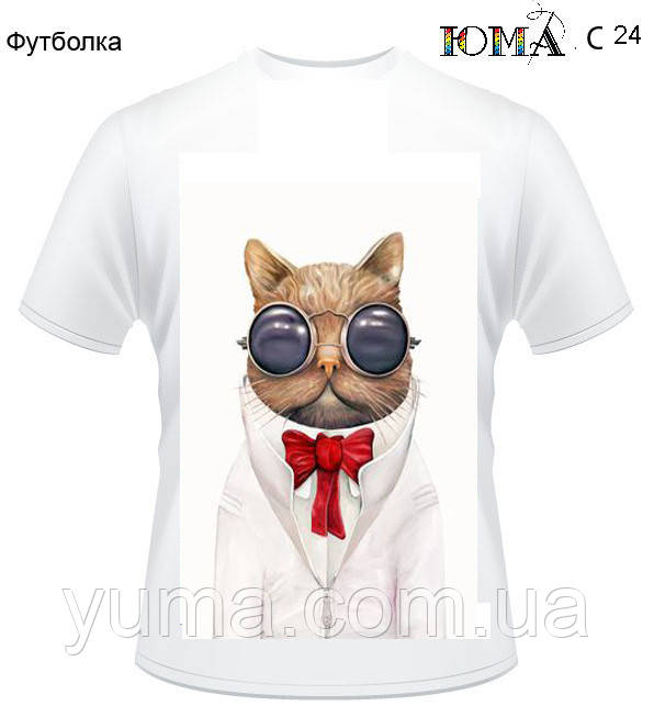 "Женская футболка c рисунком ""Мистер Кот''"