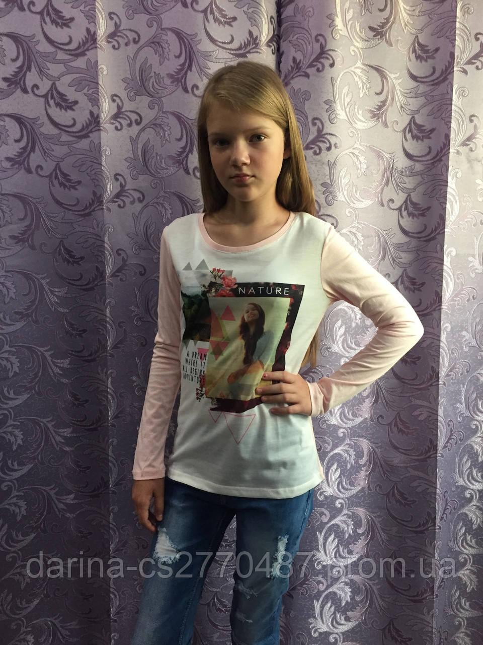 Подростковый реглан с принтом для девочки 140,146 см