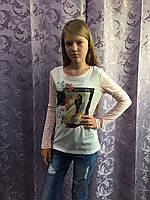 Подростковый реглан с принтом для девочки 140,146 см, фото 1