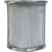 Стакан для ручек металлический круглый, серебряный