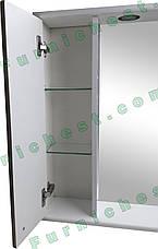 Зеркало для ванной комнаты Аэрография 60-01 левое Скрипулянт + бордо, фото 2